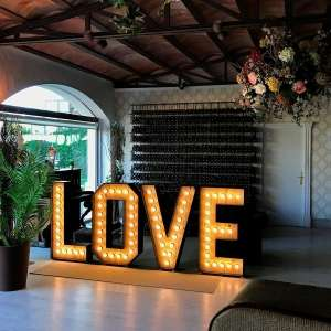 LOVE luminoso para boda - Leloup Barcelona